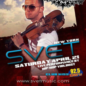 Svet is a unique electro violin artists available to perform live at concerts, collaborations, galas, fundraisers, corporate events, family events, weddings, birthday parties, government events, college and school events.