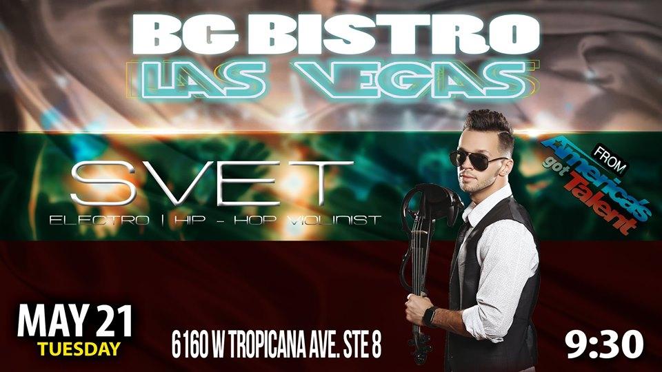 Svet performing at Vegas Bistro